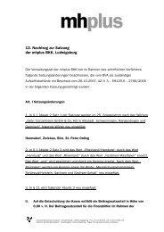 13. Nachtrag zur Satzung der mhplus BKK, Ludwigsburg
