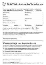 mhplus BKK: Antragsformular Fit und Vital - mhplus Krankenkasse