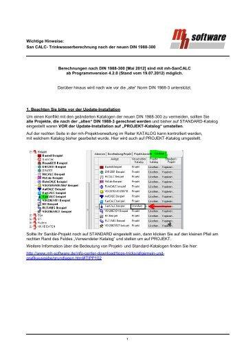 DIN 1988-300 wichitge Hinweise - mh-software GmbH