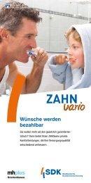 SDK Broschüre Zahnvario - mhplus Krankenkasse