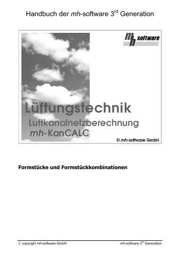 Handbuch der mh-software 3 Generation - mh-software GmbH