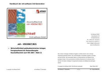 mh – VDI2067/B21 - mh-software GmbH