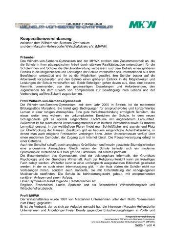 Kooperationsvereinbarung - Marzahn-Hellersdorfer Wirtschaftskreis ...