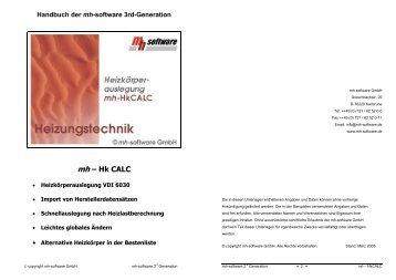 Handbuch der mh - mh-software GmbH
