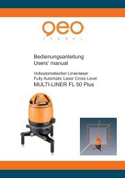 Bedienungsanleitung Users' manual MULTI-LINER FL 50 Plus