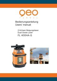 Bedienungsanleitung Users' manual FL 400HA-G