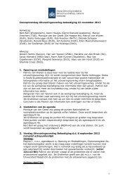 Verslag Uitvoeringsoverleg 22 november 2012 - DUO