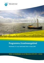 Programma IJsselmeergebied