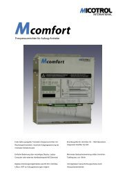 Mcomfort Kurzbeschreibung - bei MICOTROL International GmbH