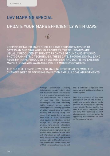 UAV mAPPING SPECIAL UPDATE yOUR mAPS ... - Microdrones