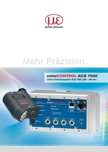 colorCONTROL ACS 7000 - Micro-Optronic