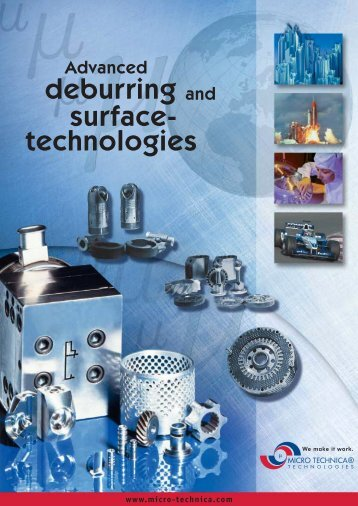 Deburring and Surface Finishing (pdf) - MICRO TECHNICA ...