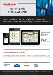 apps for retail store associates [pdf] - MicroStrategy