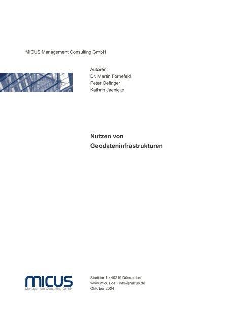 Nutzen von Geodateninfrastrukturen - GEOportal.NRW