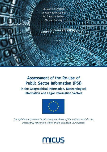 Assessment of the Re-use of Public Sector Information (PSI)