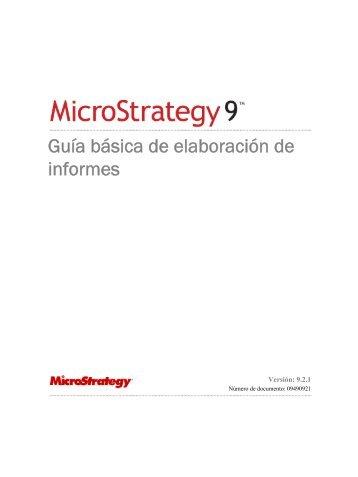 Guía básica de elaboración de informes - MicroStrategy