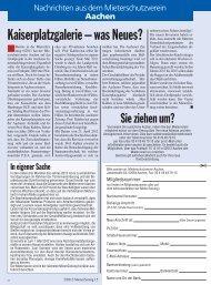 Kaiserplatzgalerie – was Neues? - Mieterschutzverein Aachen