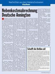 Nebenkostenabrechnung Deutsche Annington - Mieterschutzverein ...