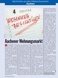 Aachener Wohnungsmarkt - Mieterschutzverein Aachen