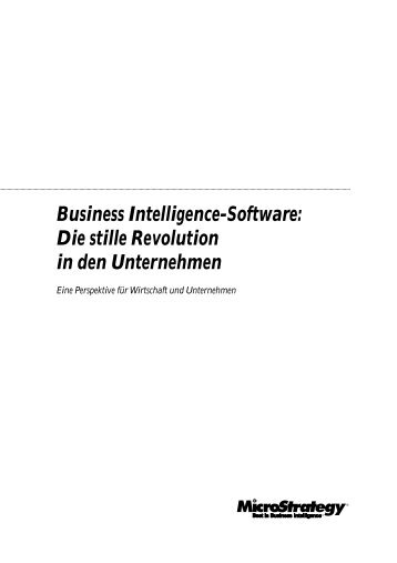 Business Intelligence-Software: Die stille Revolution ... - MicroStrategy