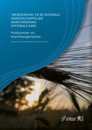 Mededinging en de integrale GMO (PDF, 2 MB) - Landbouw en ...