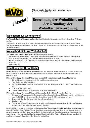 Ermittlung Der Grundfläche   Mieterverein Dresden Und Umgebung EV