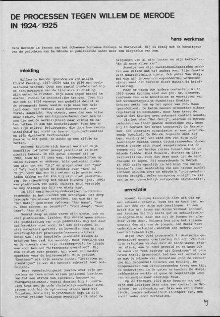 de processen tegen willem de merode in 1924/1925 - Groniek