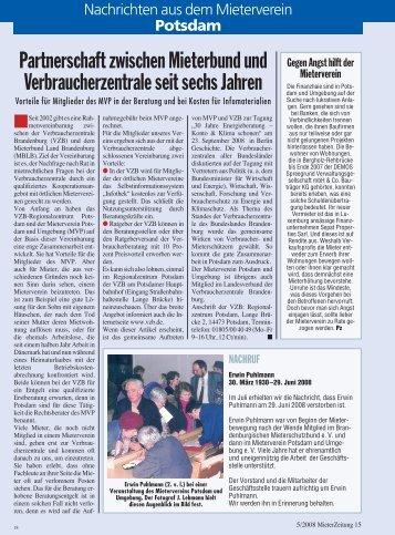 Heft 5 - Mieterverein Potsdam und Umgebung e.V.