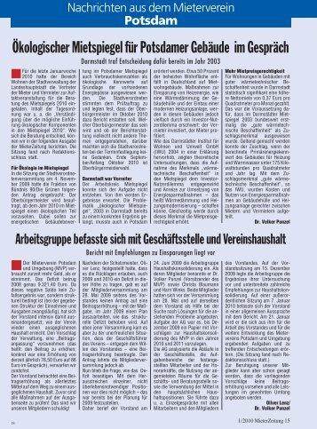 Heft 1 - Mieterverein Potsdam und Umgebung e.V.