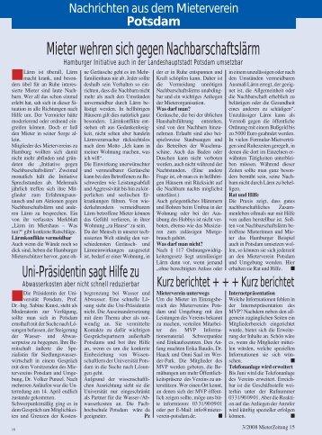 Heft 3 - Mieterverein Potsdam und Umgebung e.V.