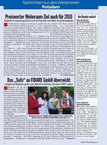 Heft 4 - Mieterverein Potsdam und Umgebung e.V.