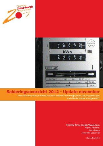 Salderingsoverzicht 2012 - Update november