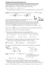 Nullstellen einer quadratischen Funktion / Schnittpunkte mit der x ...