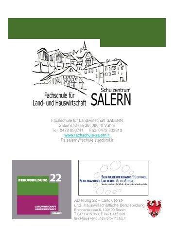 Einladung 5. Salerner Käsetagungtagung