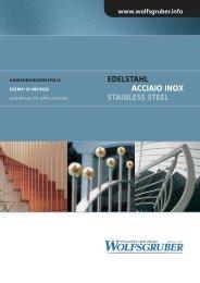 EDELSTAHL ACCIAIO INOX STAINLESS STEEL