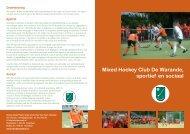 Mixed Hockey Club De Warande, sportief en sociaal - MHC De ...