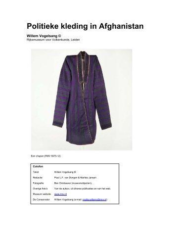 Politieke kleding in Afghanistan - Museum Volkenkunde