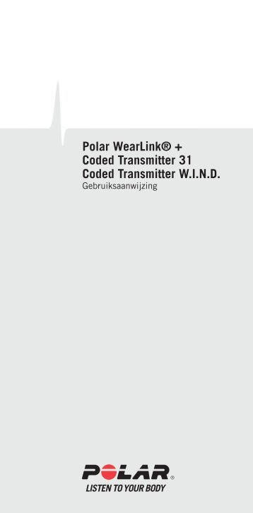 Polar WearLink® + Gebruiksaanwijzing