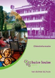Algemene informatie over Huize Louise - Cicero Zorggroep