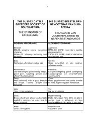 Breed Standards - Sussex Cattle Breeders Society