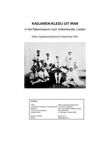 KADJAREN-KLEDIJ UIT IRAN - Museum Volkenkunde