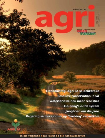 Eiendomsreg: Agri SA se deurbrake Resource conservation in SA ...