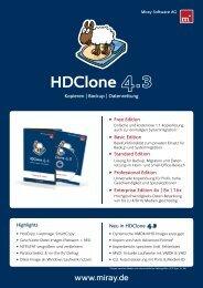 HDClone Datenblatt (.pdf) - Miray Software
