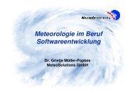 Meteorologie im Beruf Softwareentwicklung - MeteoSolutions GmbH