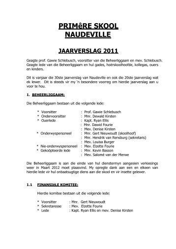 2. 2011 Jaarverslag - Naudeville.co.za