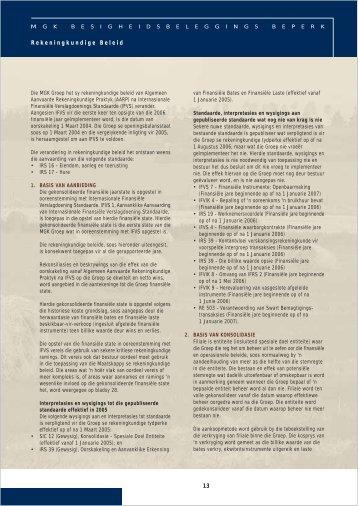 13 Rekeningkundige Beleid - MGK
