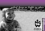 geloof, hoop en liefde in aksie - NG Welsyn Noordwes