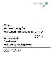 Studieordning - valgfag