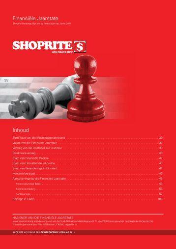 Inhoud Finansiële Jaarstate - Shoprite Holdings Ltd