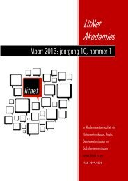 Maart 2013: jaargang 10, nommer 1 - LitNet